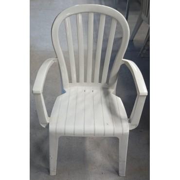 Plastic garden chair...