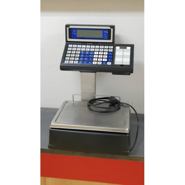CAS K-254 Electronic price multiplier scales with label or block thermal printer. Scales
