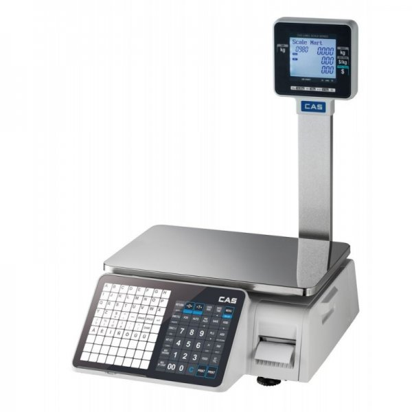 CAS CL3000 label printer, tower system scale