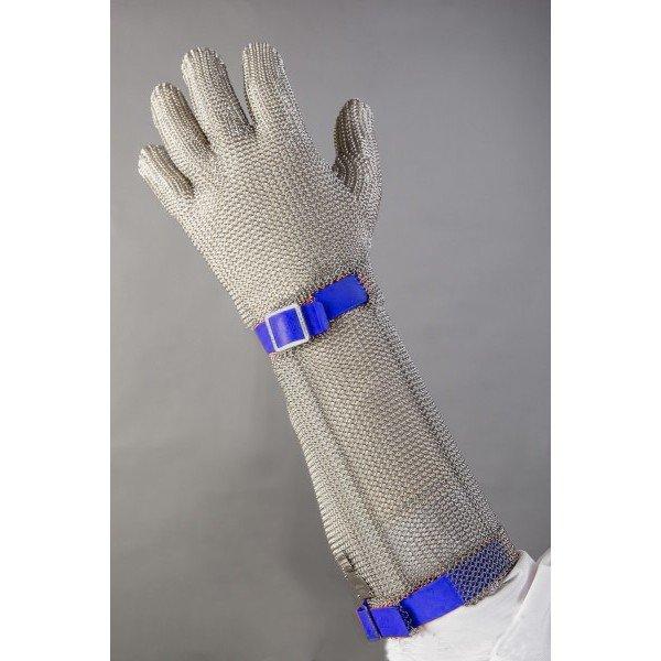 Alkarvédős chain glove Blue  Chain Gloves / Aprons