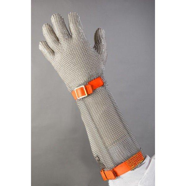 Alkarvédős chain glove Orange  Chain Gloves / Aprons
