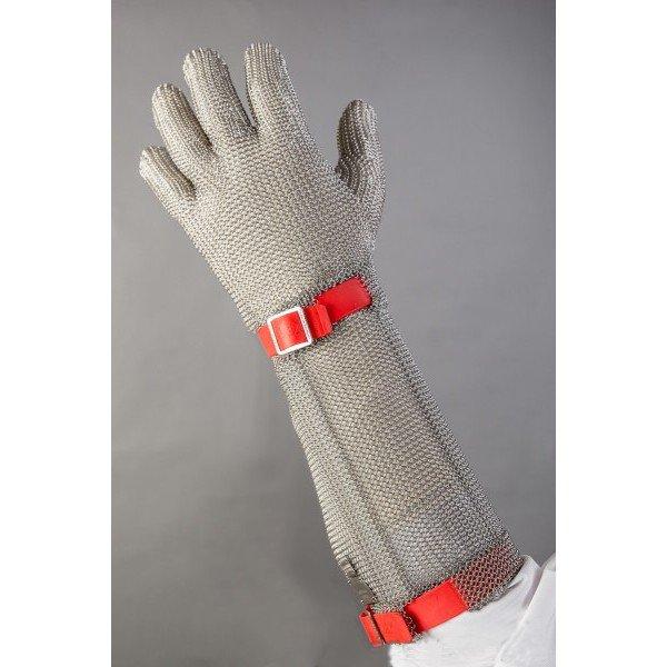 Alkarvédős chain Red Gloves  Chain Gloves / Aprons