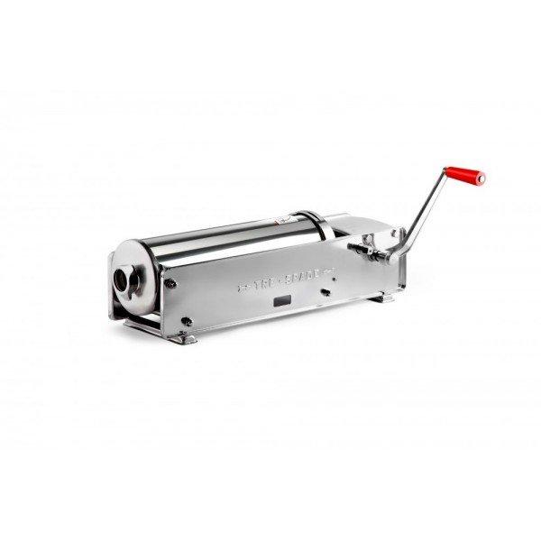 FACEM TreSpade 10 liter stainless lying stuffing horn / sausage Sausage / Chitterlings filling machine