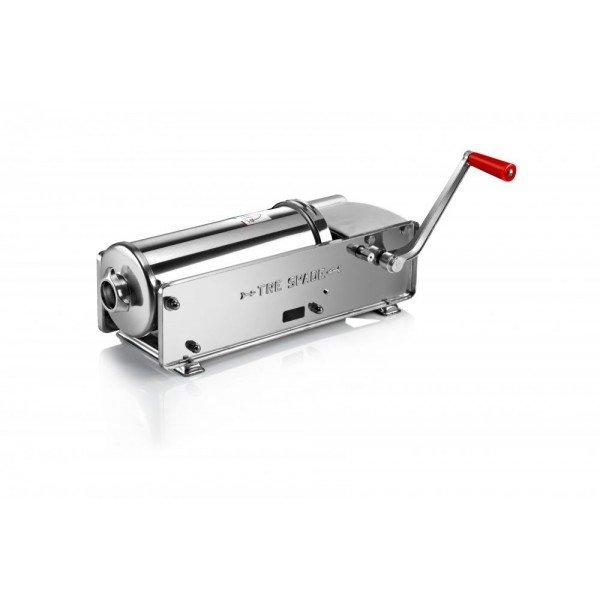 FACEM TreSpade 7 liter stainless lying stuffing horn / sausage Sausage / Chitterlings filling machine
