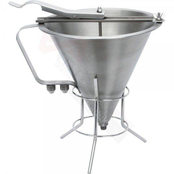Saucer funnel sauce dispensers