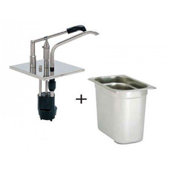 Lever dispenser GN 1/6 sauce dispensers