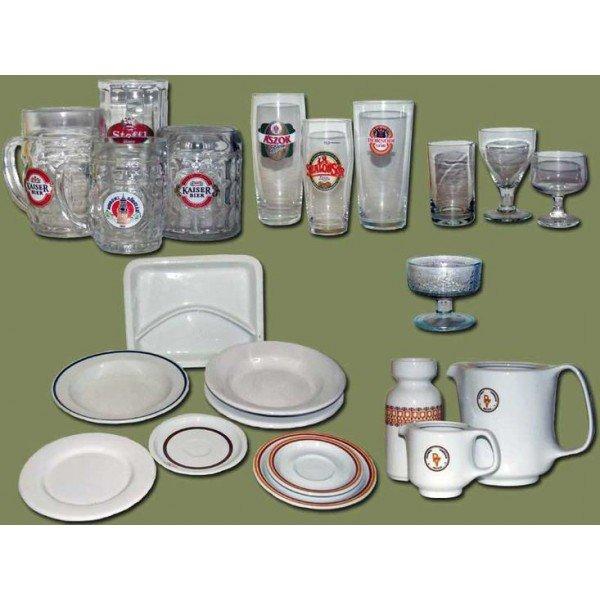 Deep, shallow, small, large, plate, mug, glass, jug ... Catering