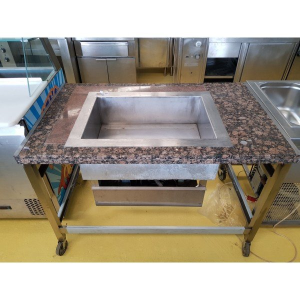 Mobile granite counter coolant counter Cooling racks