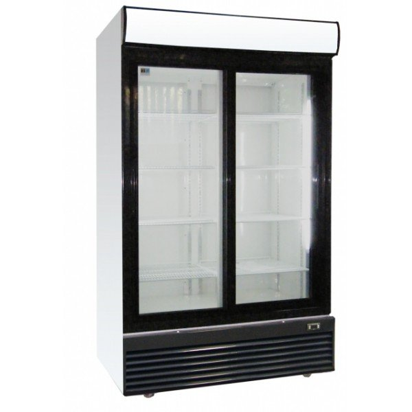 LG-1000BFS Sliding glass door cooler Glass door fridges