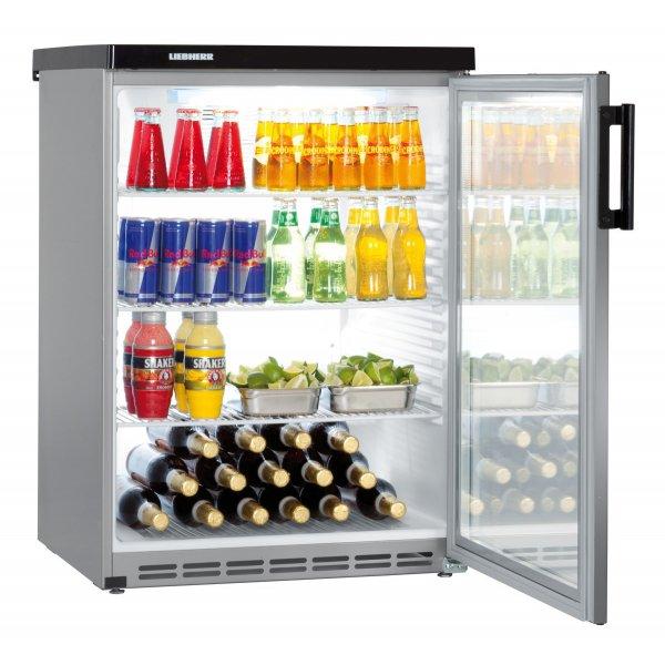 LIEBHERR FKvesf 1803 - gross 180 liter table refrigerator - glass door Glass door fridges