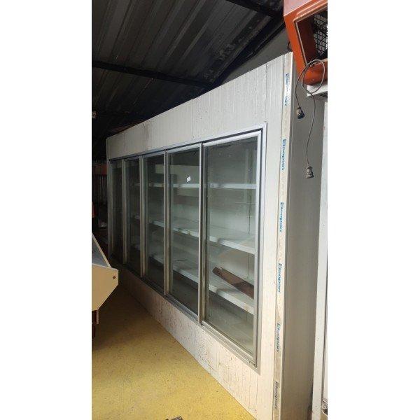 Wall cooling chamber is sectional glass door refrigerator 4.3 m Glass door fridges