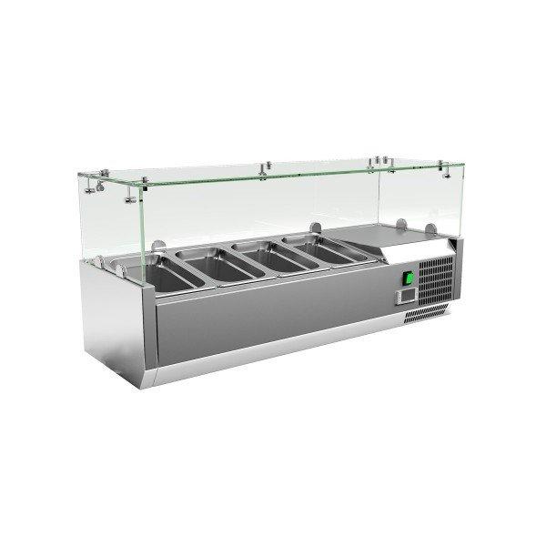 Chiller 3xGN1 / 3 + 1xGN1 / 2 - 120 cm Salad refrigerator