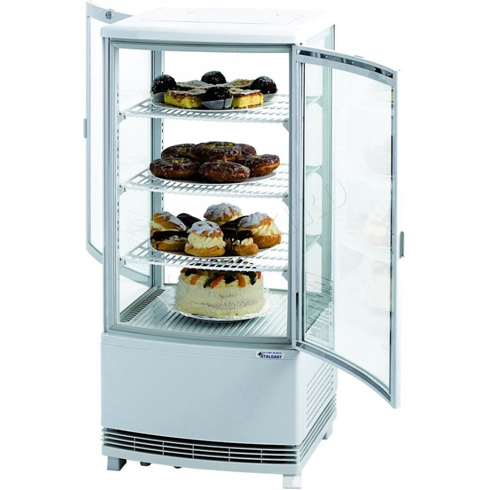 Round glass sandwich, cake cooling  Confectionary coolers