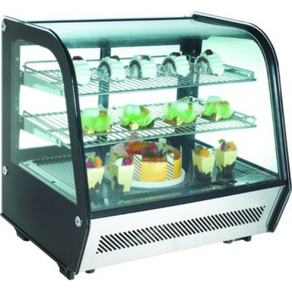 RTW 120 curved glass cooler, countertop Confectionary coolers