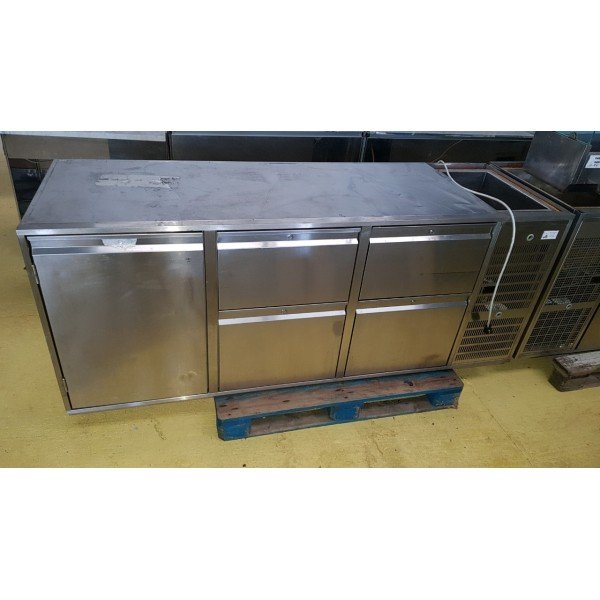 1 door chilled worktop with 4 drawers Refrigerated bench / table