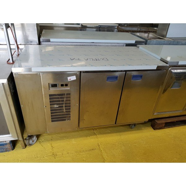 Mobile 2 door chilled worktable Refrigerated bench / table