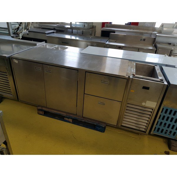 2-door 2-drawer chilled worktable Refrigerated bench / table