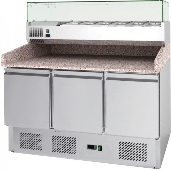 Forcar S903PZ refrigerated pizza counter 6xGN1 / 4-inch cooler conditions Refrigerated bench / table