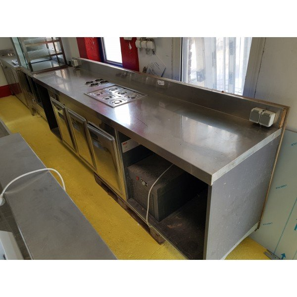 3 door shutter counter, bar counter, refrigerated worktable - Orion Refrigerated bench / table