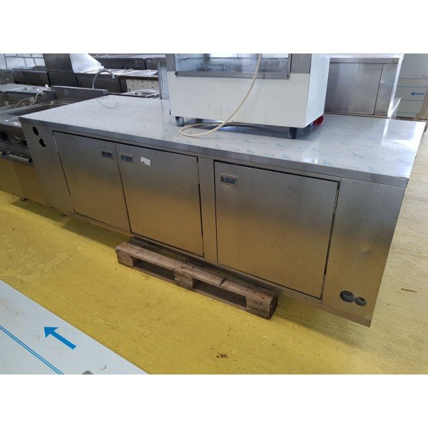 3-door shutter counter Refrigerated bench / table