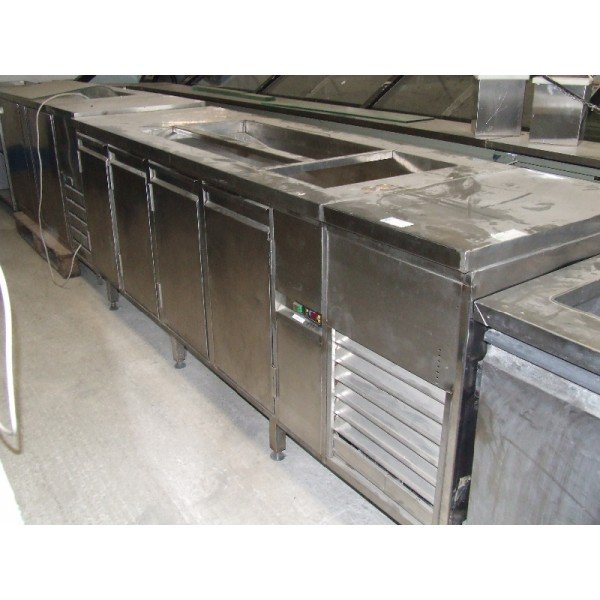 4 door refrigerated work table (H102)  Refrigerated bench / table
