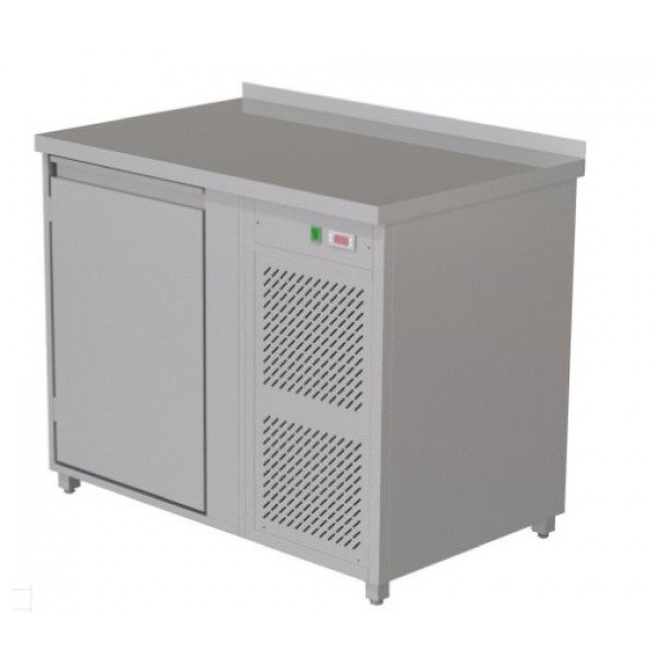 Heated radiator table - 1 door Refrigerated bench / table