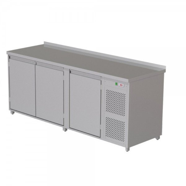 Heated radiator table - 3 doors Refrigerated bench / table