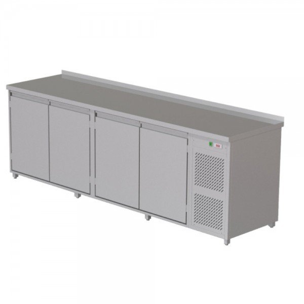 Heated radiator table - 4 doors Refrigerated bench / table