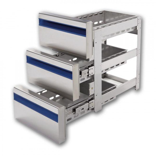 Drawer Set - with 3 drawers - Dalmec Refrigerated bench / table