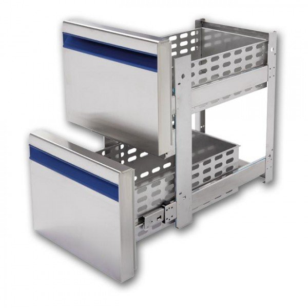 Drawer Set - with 2 drawers - Dalmec Refrigerated bench / table