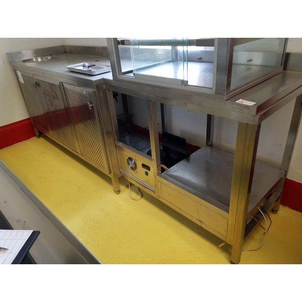 Inox 3-Door Neutral Counter Refrigerated bench / table