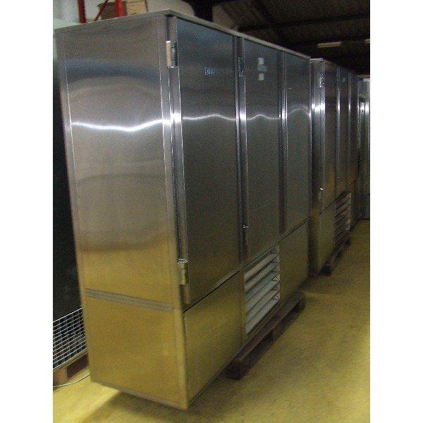 """Warchałowski"" 3-door stainless steel refrigerator background Background coolers"