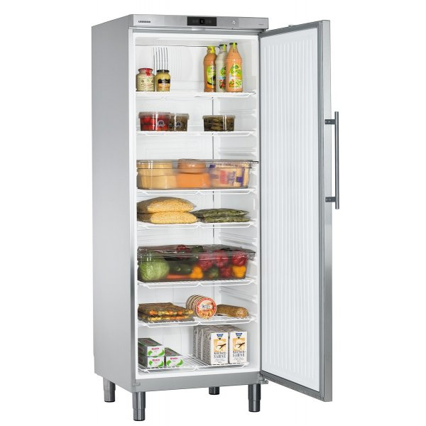 Liebherr GKv 6460 industrial refrigerator with stainless steel full door GN2 / 1 664l Background coolers