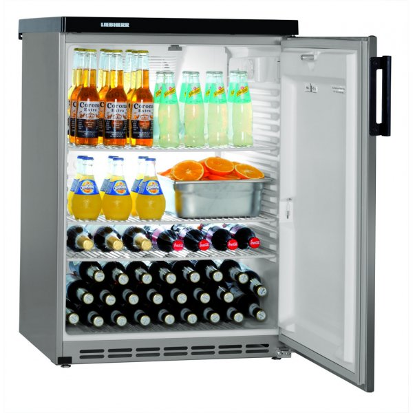 LIEBHERR FKvesf 1805 - gross 180 liter table-top refrigerator - with full door, gray-rm. with door Background coolers