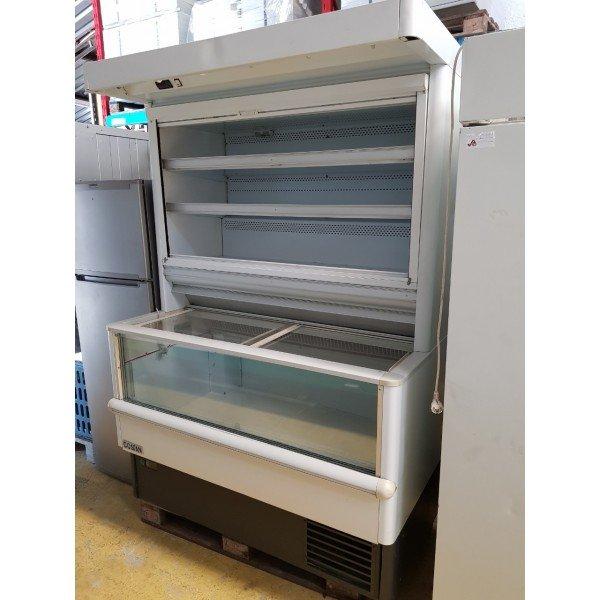 Combined refrigerator freezer regal Glass door fridges