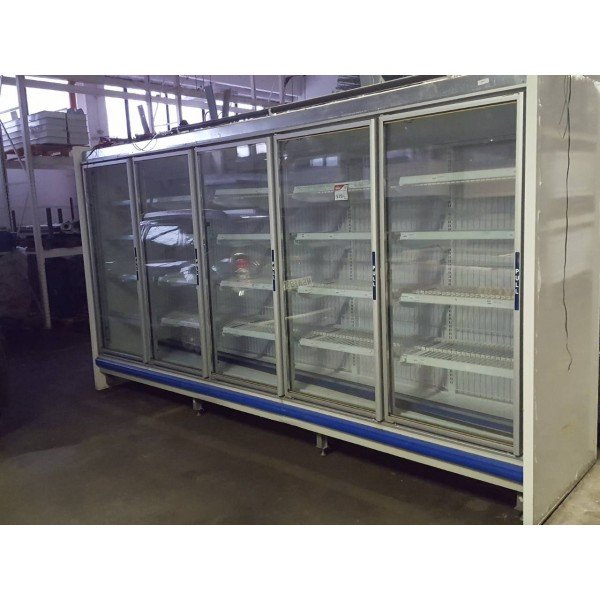 Used 5 glass door coolers Freezing cabinets