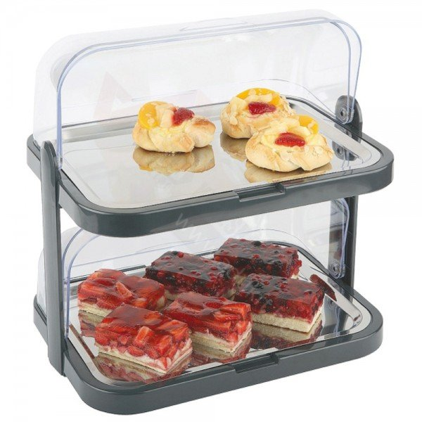 Two-story chilled Rolltop presentation tray Other