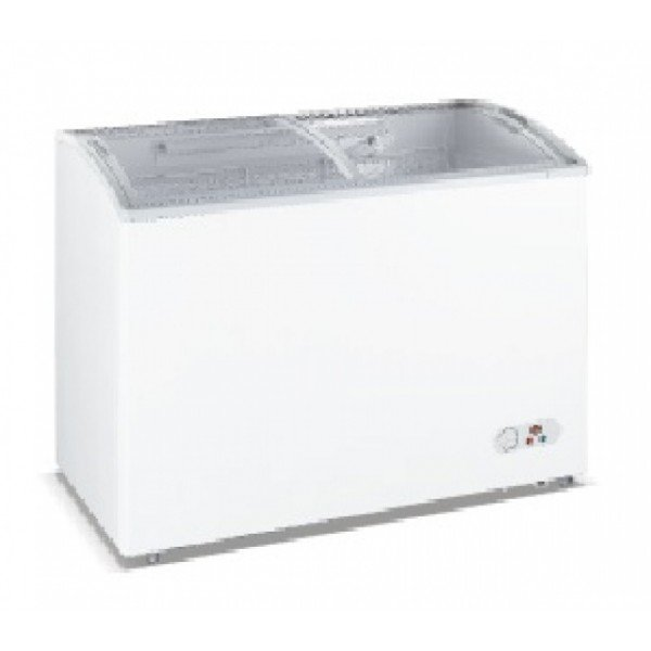 WD-290Y Chest freezer with slanting, sliding and convexed glass door Chest freezers