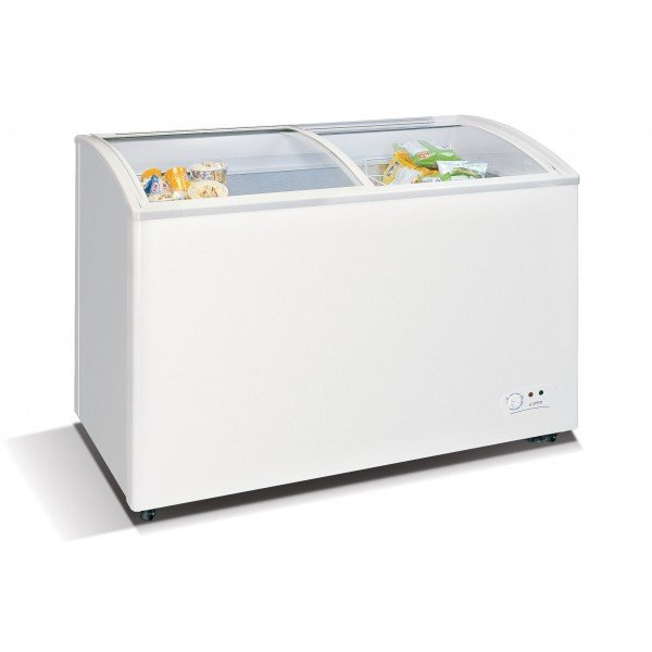WD-330Y Chest freezer with slanting, sliding and convexed glass door Chest freezers