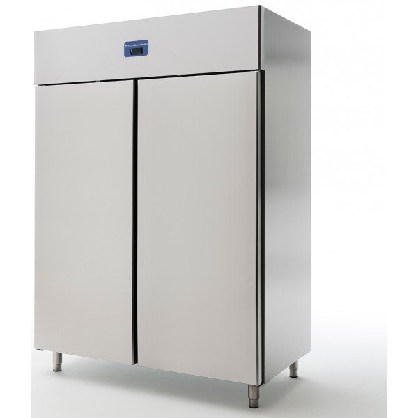 Standing stainless steel freezer 1300 liters - MorganMünchen 900024 Freezing cabinets
