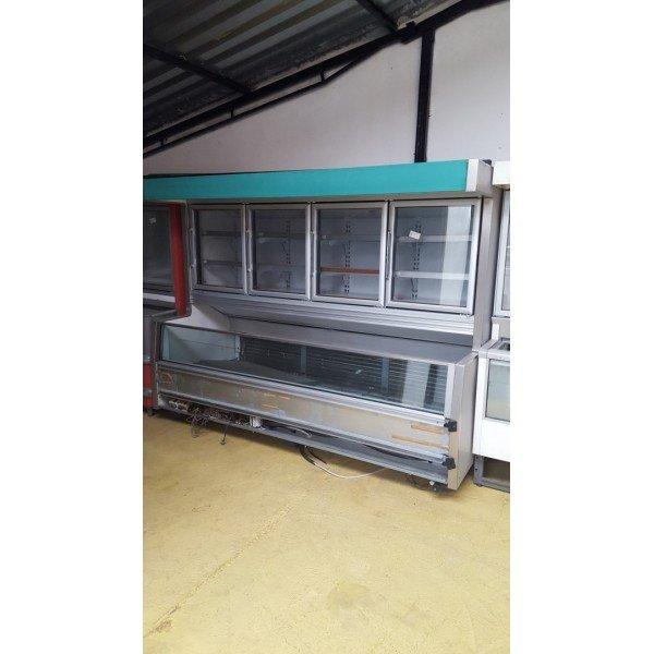 Costan 4-door freezer island + Chest freezers