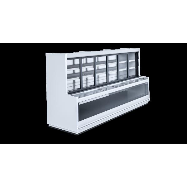 Igloo Level 2.50 L-mod / C - freezer / cooling island Glass door fridges