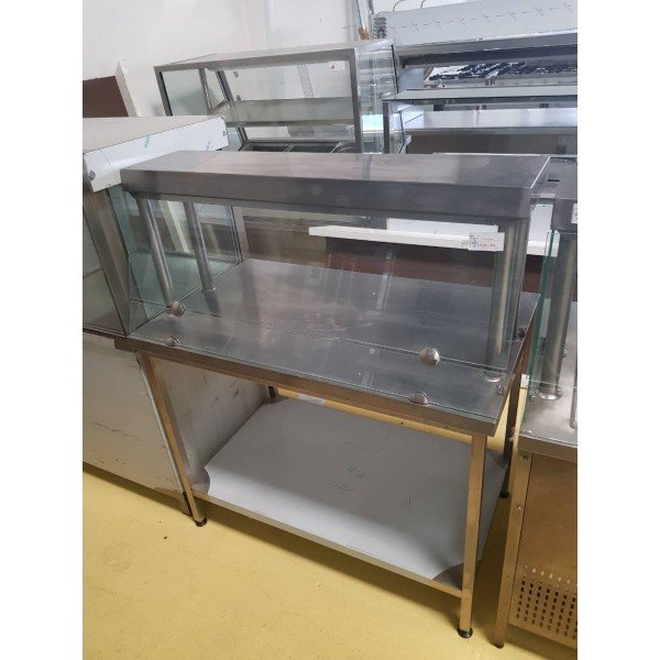 Stainless steel neutral counter - 110x65x85 cm Stainless steel tables