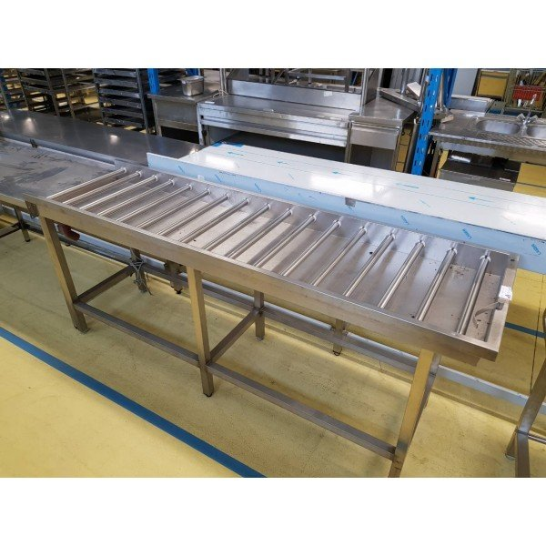 Roller racing / folding table Stainless steel tables