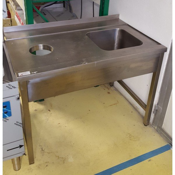 Stop plate stainless steel table Under counter dishtables