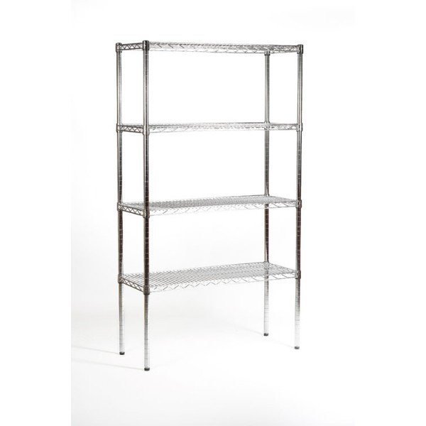 4 tier light duty chrome shelving 122 cm Shelving systems
