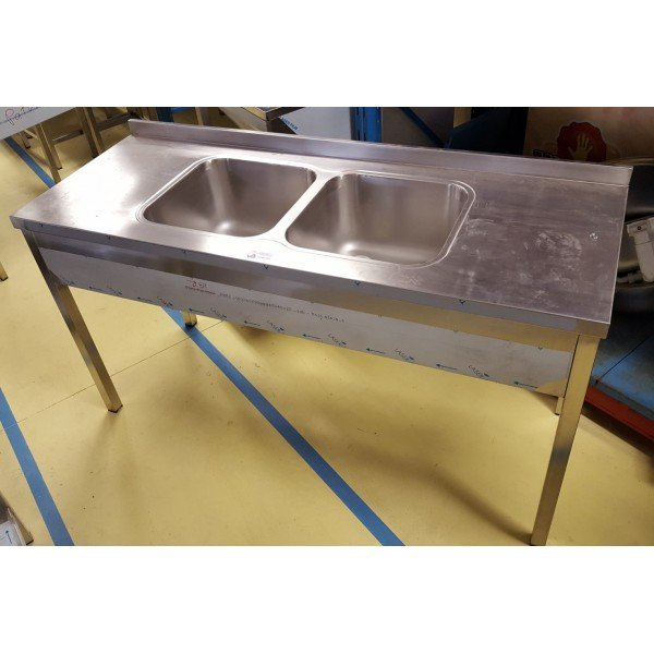 Stainless steel sink with 2 pools - 40x40 Sinks