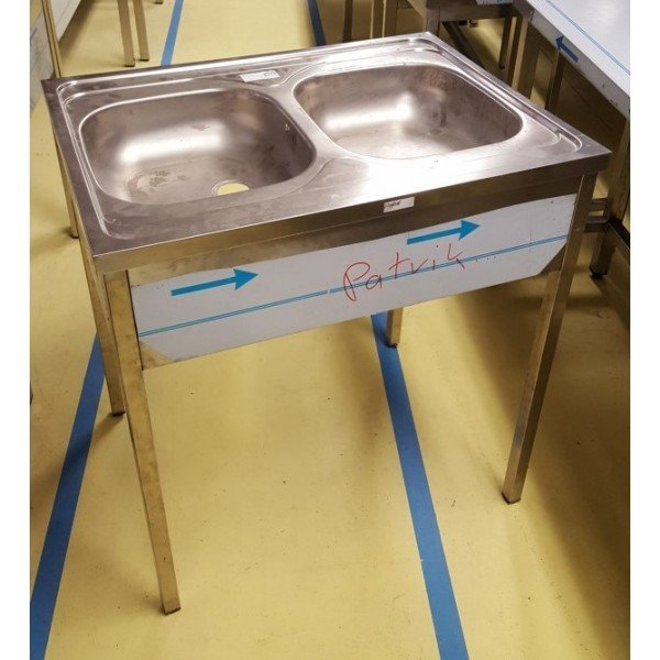 Stainless steel sink with 2 pools HT Sinks