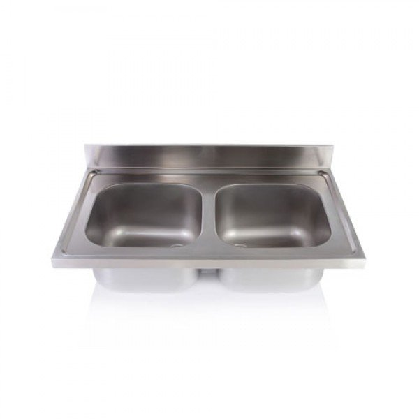 Double sink unit without legs 40x40x25 Sinks