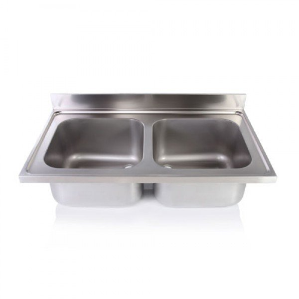 Double sink unit without legs 50x50x30 Sinks